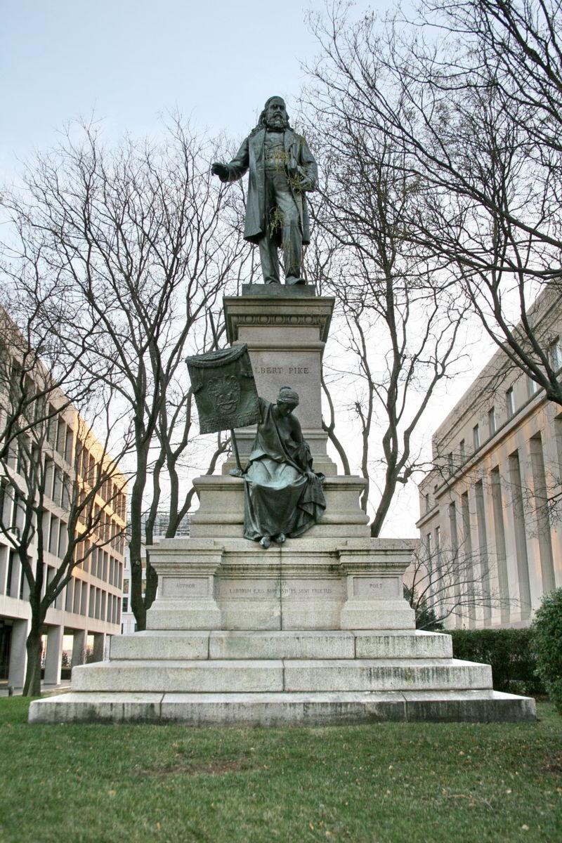 Albert Pike memorial